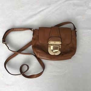Michael Kors crossbody bag, brown leather
